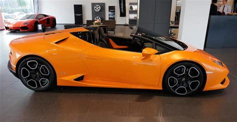 Lamborghini Huracan Orange Lamborghini Huracan Spyder Looks Amazing In Orange