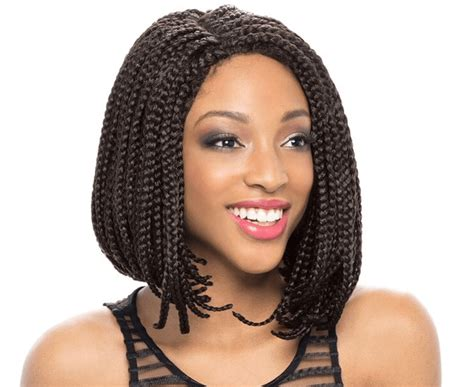 short braided pixie african american women 14inch bob wig synthetic lace front wig african american