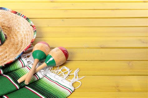 Mexico Mexican Background Sombrero Blanket Wood Copy Space Stock Image Image Of Fabric Woven Mexican Themed Powerpoint Template