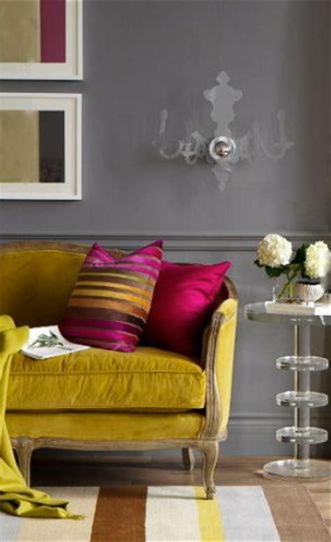 dark grey walls mustard velvet sofa a interior design
