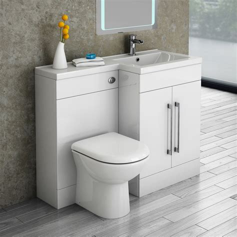 Combined Bath And Shower Units valencia 1100 combination basin amp wc unit with round