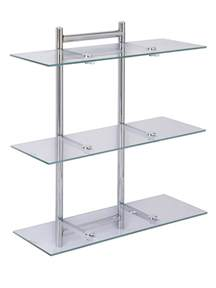aquarius 3 tier glass bathroom shelving unit co uk