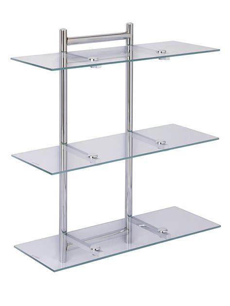 Aquarius 3 Tier Glass Bathroom Shelving Unit Very Co Uk Glass Bathroom Shelving
