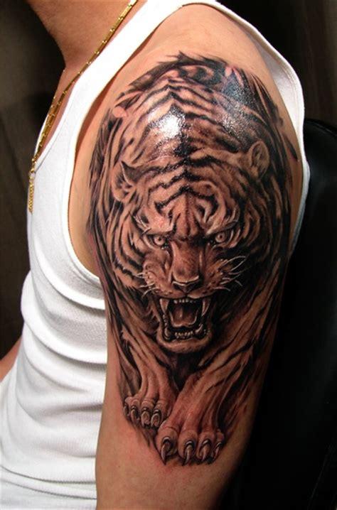 tiger tattoo half sleeve chronic ink tattoos tattoo designs
