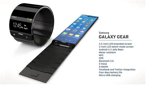 samsung galaxy gear android smart samsung galaxy gear android smart to be unveiled on september 4th 2013 specs 3d