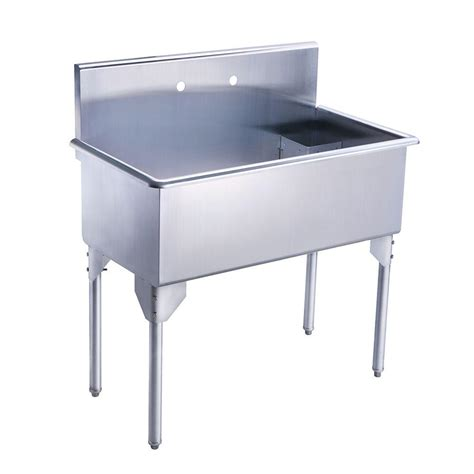 2 Sinks In Kitchen Whitehaus Collection Pearlhaus All In One Freestanding Stainless Steel 39 1 8 In 2 Single