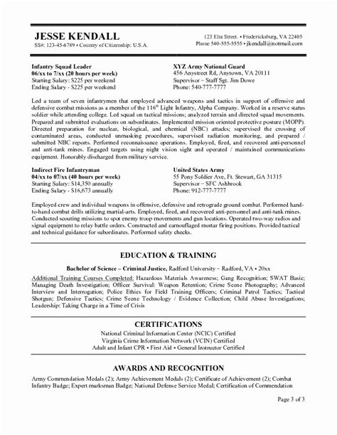 federal resume sle 2018 cv sle government images certificate design and