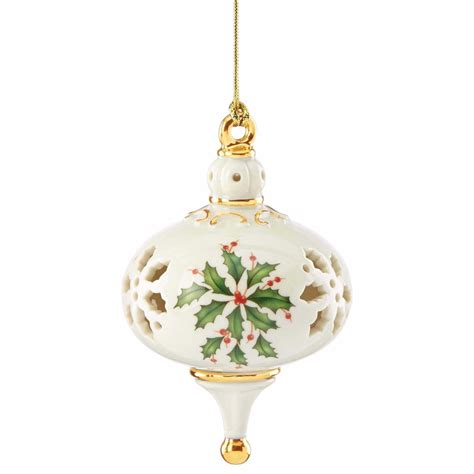 lenox christmas 2015 holiday pierced ornament annual holly