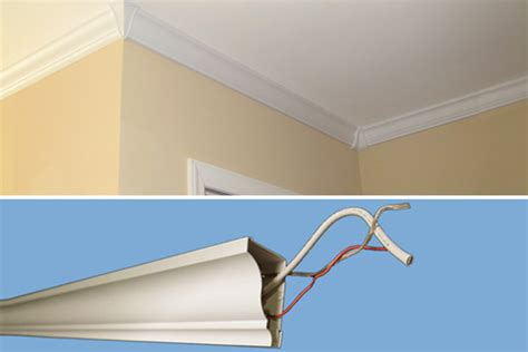 trim to hide wires crown molding ideas home improvement and remodeling tips