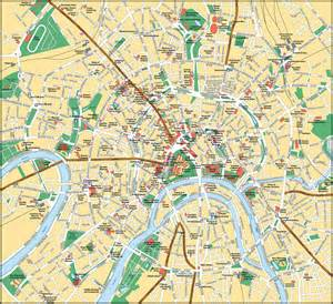 tourist map of central moscow tourist map