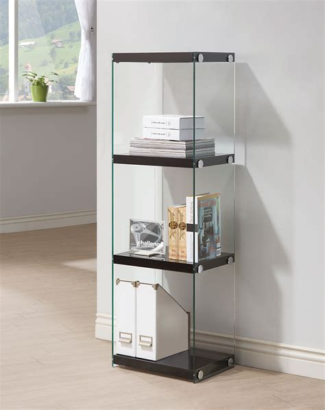 arlington black gloss bookcase 198 las vegas furniture