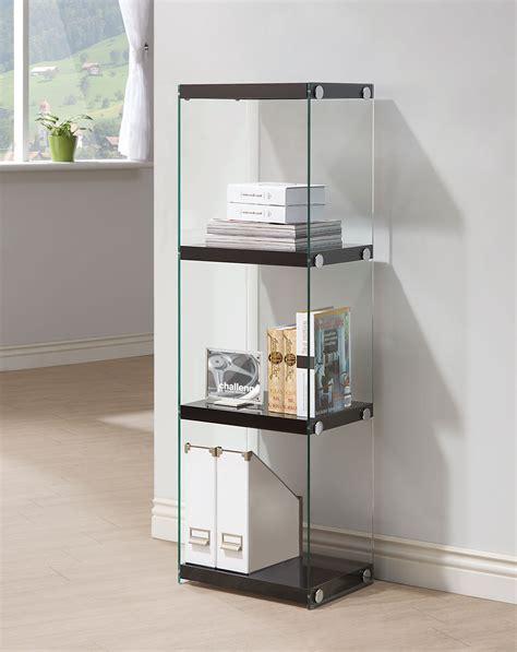 arlington black gloss bookcase 198 las vegas furniture