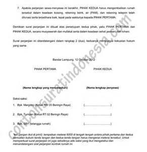 doc contoh draft surat perjanjian sewa kontrak rumah