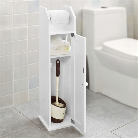 bathroom cabinet toilet roll holder sobuy 174 free standing wood bathroom cabinet toilet paper