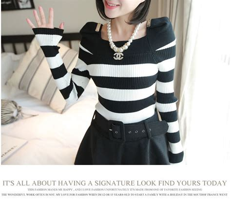 Atasan Murah Wanita Simple Roundhand Sweater Cantik blouse wanita korea hitam putih simple model terbaru
