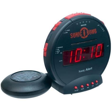 bed shaker alarm sonic bomb alarm clock and bed shaker hearing impaired clocks