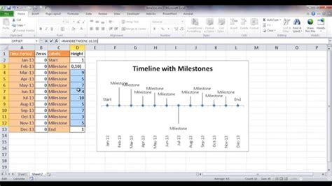 Download Timeline Chart In Excel Gantt Chart Excel Template Excel Milestone Template