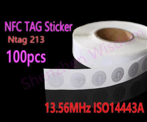 Programmable Nfc Tag Sticker 1 Sticker Tag Sticker 100pcs nfc tags 13 56mhz iso14443a nfc sticker 25mm ntag213 rfid nfc tag stickers for all nfc