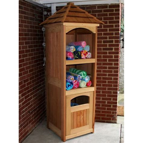 Backyard pool towel storgae with a little planning you can incorporate storage into any