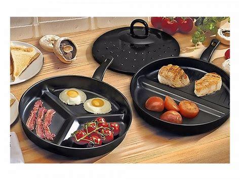 Oxone Frypan Set 3 Pcs Ox 82 3 pc metal non stick divider frying pan set with lid black