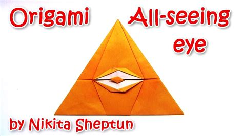 How To Make A Paper Eye - helloween cool origami all seeing eye illuminati by