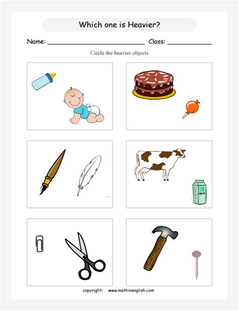 circle objects that are heavier in your opinion what is