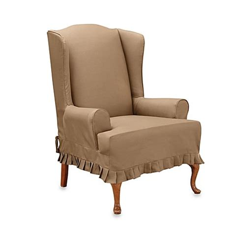 sure fit wing chair slipcover moved