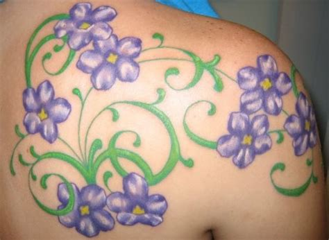 february birth flower tattoo violets one of the birth month flowers for february