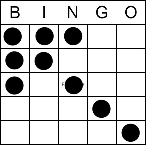 pattern bingo games bingo game pattern arrow1