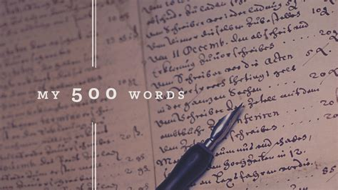 my words my 500 words a writing challenge
