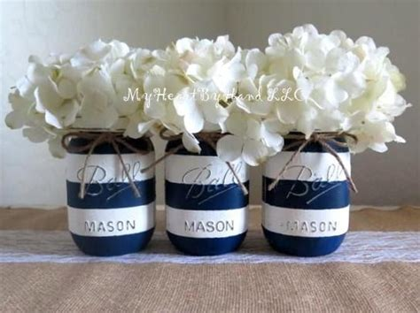 nautical baby shower centerpiece navy blue and white