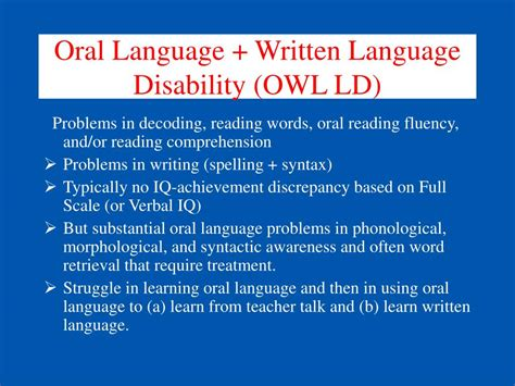written language ppt ms042 differential diagnosis and treatment for