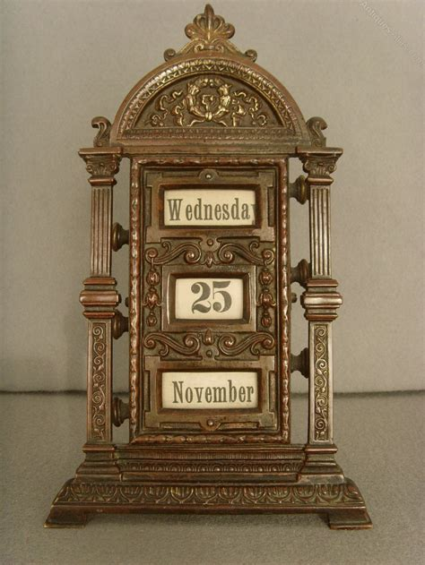 antique perpetual desk calendar antiques atlas 19th c patinated brass perpetual desk
