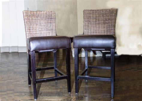 Wicker Style Bar Stools by Wicker Back Bar Stools Home Design Re Style Wicker