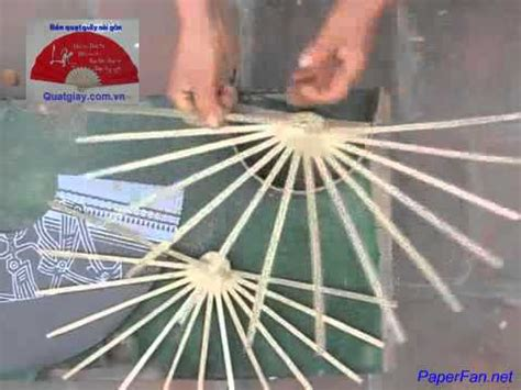 How To Make A Paper Fan On A Stick - how to make a paper fan by tutorial