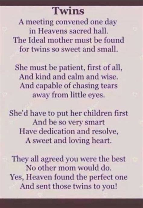 printable twin quotes i love this because when i thought about having twins i