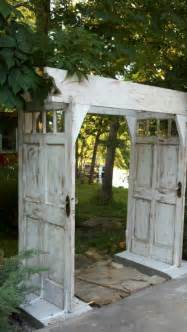 arbor made from doors