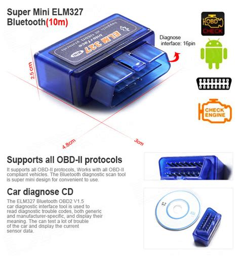 Car Diagnostic Elm327 Bluetooth Obd2 V16 Automotive Test Tool Black own a car be pro auto with elm 327 obd ii bluetooth scanner bitsnapper