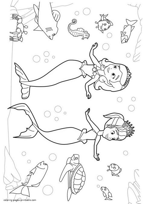 sofia the first coloring pages printable tagged with sofia the first mermaid colouring pages murderthestout