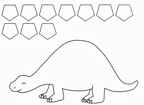 best photos of dinosaur templates for preschoolers free