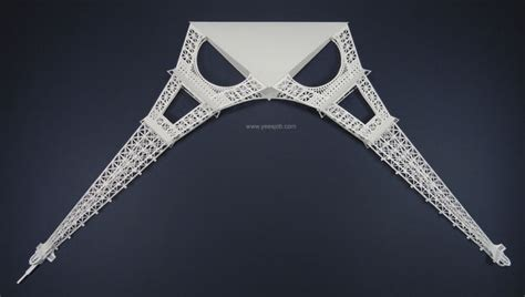the eiffel tower pop up card origami architecture kirigami