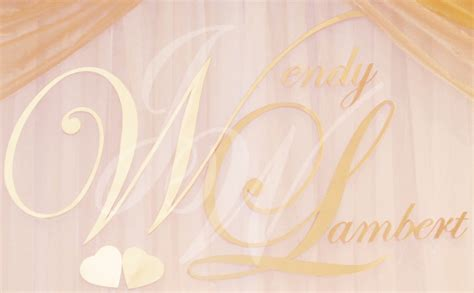 Wedding Backdrop With Names by Joyce Wedding Service 187 Backdrop Name