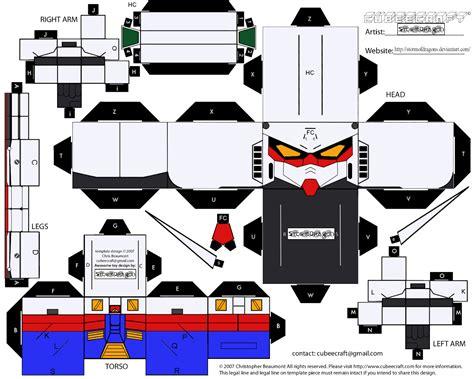 Papercraft Gundam Template - cubee gundam rx 78 2 ver2 by stormofdragons d3dh93q png