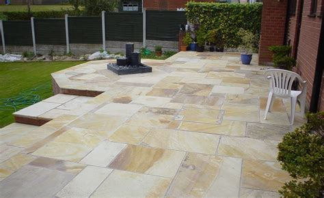 Indian Sandstone Patio Slabs by Mint Fossil Indian Sandstone Paving Patio Slabs 25 40mm Ebay