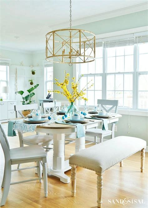 coastal dining room makeover sand and sisal 16 best dining rooms images on pinterest cooking food
