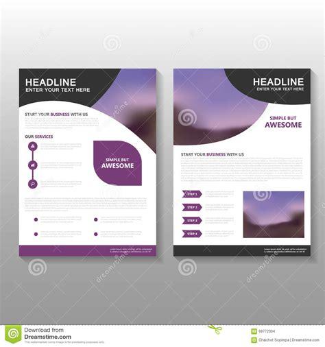 magazine layout design proposal purple curve vector leaflet brochure flyer business