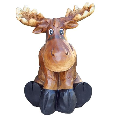 moose lawn ornament beckett sitting moose statue