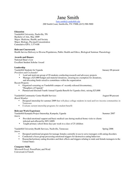 Written Resume by Pre Written Resume Sle Sidemcicek