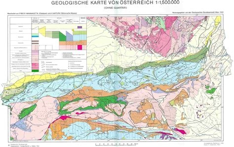 geological map of geological map of austria size