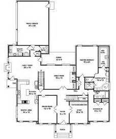5 bedroom floor plans 1 story 653902 two story 5 bedroom 4 5 bath traditional colonial style house plan house plans